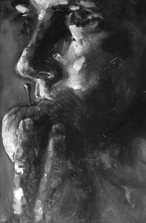 Manzana IV, (de la serie Manzanas), óleo/tabla, 60 3 40 cm, 2007