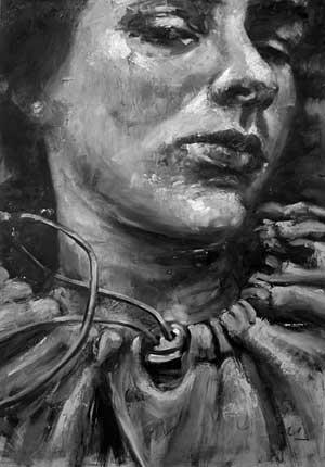 Cuerpo (de la serie Expreso de imprecisiones), óleo/tabla, 100 x 80 cm, 2007