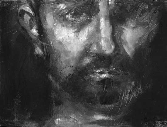 retrato de Nicolás (de la serie expreso de imprecisiones), óleo/tabla, 30 x 40 cm, 2006